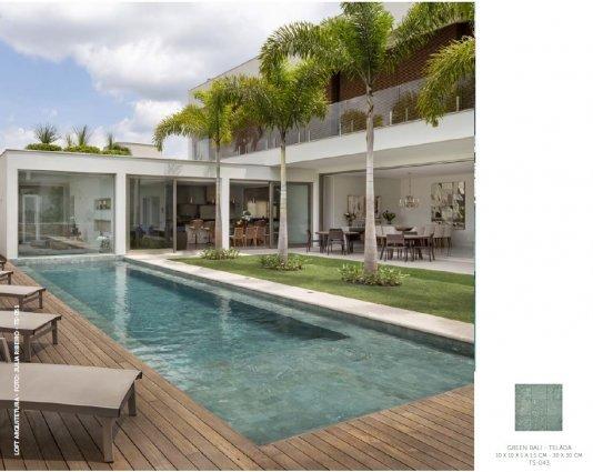 Green Bali Hijau 10x 10 cm - Telado para piscinas formato 30 x 30 cm