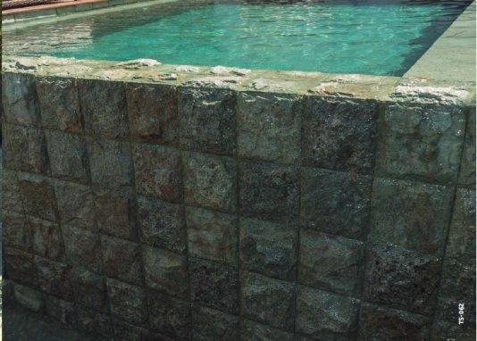 Green Bali Hijau Rústico 10 x 10 x 2 cm para piscinas