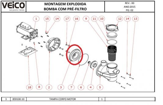 intermediaria do motor Veico Tampa corpo motor