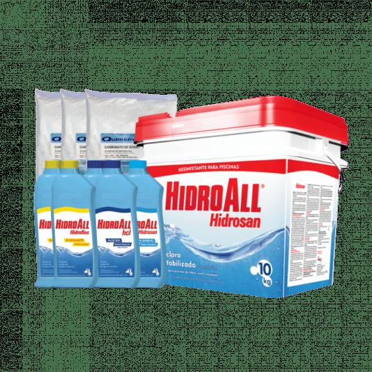 Kit Completo de Produtos para Limpeza de Piscinas