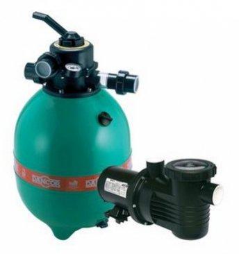 Filtro para Piscina 24 até 48 Mil Litros Dancor DFR-15C e Bomba 1/3cv