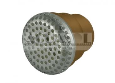 Dispositivo de Sucção para Banheiras em Metal Cromado