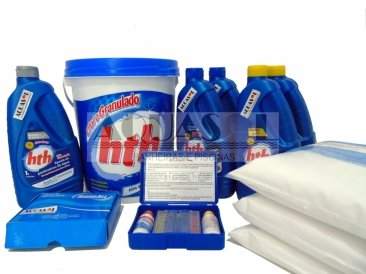 Kit Completo de Produtos Químicos para Piscina Média