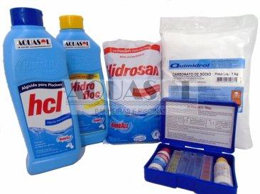 Kit Completo de Produtos para Piscinas Plásticas