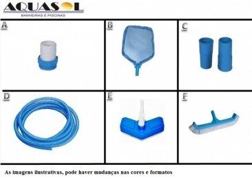Kit Equipamentos para Piscina 7,00 x 3,50 x 1,40 Dispositivo Aspiração Lateral da Piscina