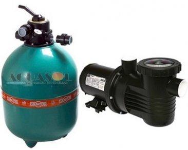 Filtro para Piscina 66 até 132 Mil Litros Dancor DFR 22 e Bomba 1.0cv