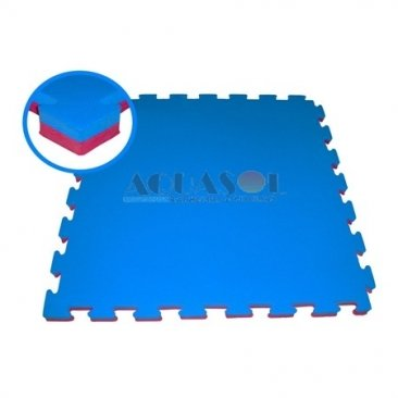 Tatame Texturizado (Azul/Vermelho ) – Tamanho : 1m²