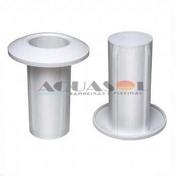 Chumbador plástico de escadas em inox para piscinas ( Par ) .