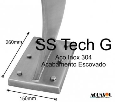 Cascata em Aço Inox 304 High Tech com 105 cm