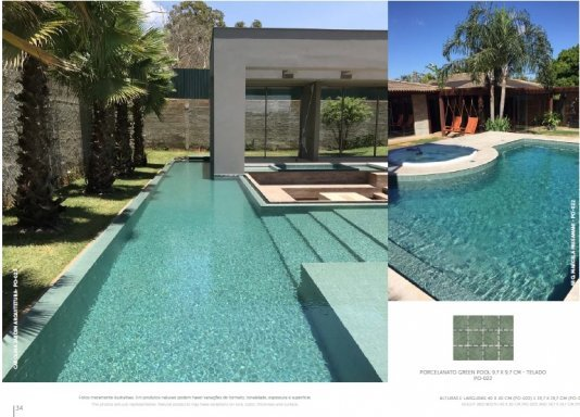 Porcelanato Green Pool 9,7 x 9,7 cm - Telado para piscinas