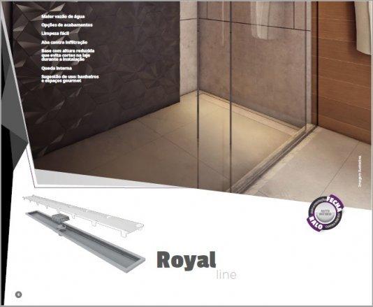 Ralo linear Royal tampa oculta 80cm / 90cm / 100cm
