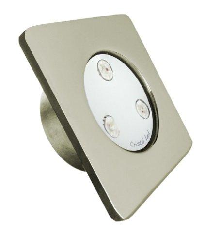 Refletor Led 25W inox Mini Quadra para Piscinas