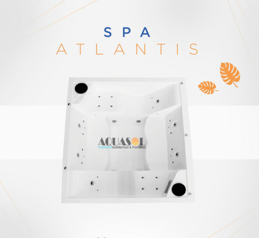 Spa Quadrado Atlantis Slim Plus em Gel Coat