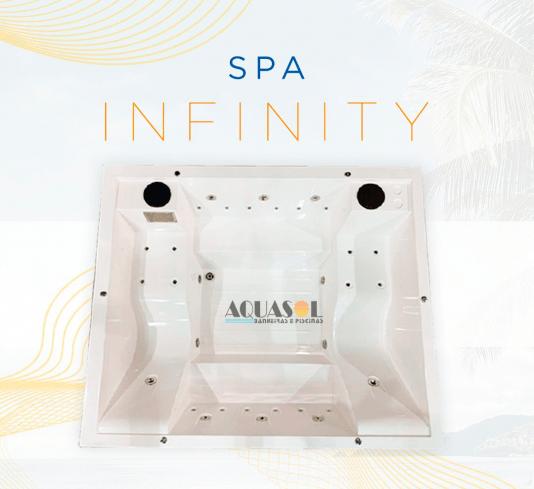 Spa Quadrado Infinity Slim em Gel Coat