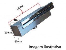 Cascata de embutir 60 cm reforçada de lâmina inox 304
