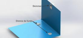 Skimer especial para piscina de concreto ou de fibra