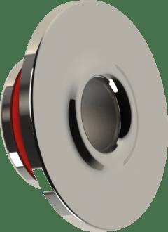 Dispositivo de retorno para piscina de concreto encaixa dentro da tubulação de 50mm soldavel produzida em Inox 316 redondo