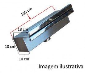 Cascata embutir 100 cm reforçada de lâmina inox 304
