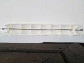 Degrau plástico reforçado da escada inox para piscinas .