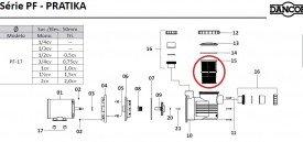 Cesto do pré filtro da motobomba para piscinas Dancor PF 17