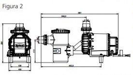 Motor para piscina 3/4 cv syllent Pool Aqquant