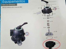 Corpo da Válvula do Filtro para Piscinas Henrimar