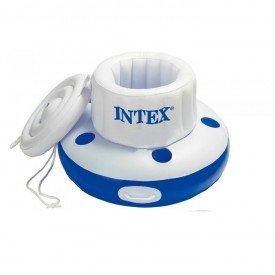 Refrigerador/ bar flutuante inflável para piscinas .