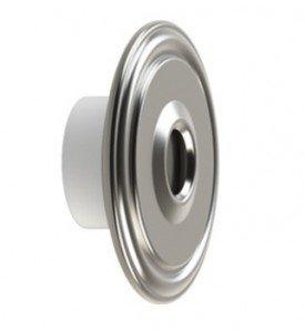 Dispositivo de Retorno Aço Inox 50mm Flange Traseira ABS Saída do Jato 13MM