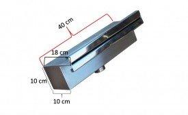 Cascata de embutir 40 cm reforçada de lâmina inox 304