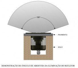 Refletor 16w Branco 3000k Embutir em Deck/ Alvenaria