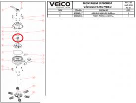 Mola inox da válvula + 2 Arruelas lisa inox Veico