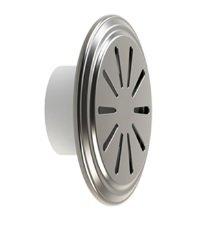 Dispositivo de Nível em Inox 50mm Flange Traseira ABS para Piscina de Concreto