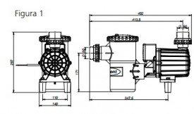 Motor para piscina 1/2 cv silencioso syllent Pool Aqquant.