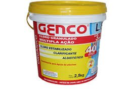 Cloro Granulado para piscina Genco multipla ação 2,5kg
