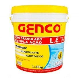 Cloro Granulado para piscina Genco múltipla ação embalagem 10kg .