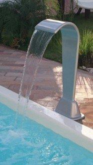 Cascata em fibra de vidro para piscinas com 115 cm