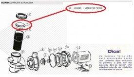 Visor do pré-filtro do motor de piscina da marca Veico