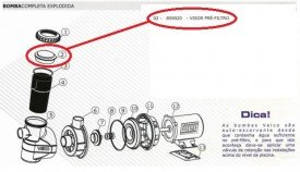 Visor do pré-filtro do motor de piscina Veico