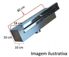 Cascata de embutir 80 cm reforçada de lâmina inox 304