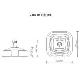 Base Plástica para Fixação do Guarda - Sol