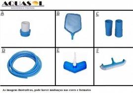 Kit de Equipamentos Completo para Piscina 7,00 X 3,50 X 1,40 Dispositivo Aspiração Lateral da Piscina