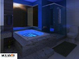Cromoterapia para banheiras de hidromassagem com 02 Pontos de luz .