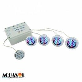 Cromoterapia para banheira - 04 pontos RGB + controlador de efeitos
