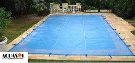 Capa 5,00 x 2,50 de proteção para piscinas em Tela