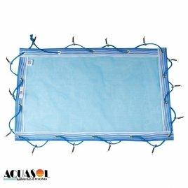 Capa 9,00 x 4,00 de proteção para piscinas em Tela