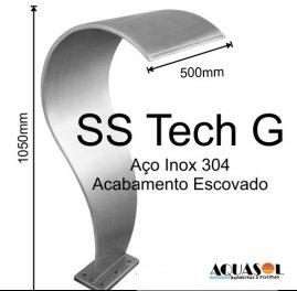 Cascata fabricada em aço inox 304 High Tech com 105cm de altura .