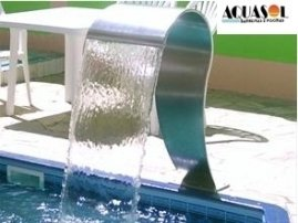 Cascata em aço inox 304 com 82 cm de altura