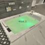 Banheira Retangular Dupla Square Premium em Gel Coat