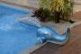 Cascata Baleia Móvel em Fibra de Vidro para Piscinas