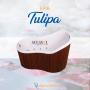 Ofuro Tulipa Slim em Gel Coat